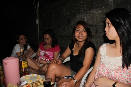 While drinking with my cousins co-worker. I'm not drunk yey! Bwahaha!